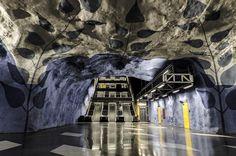 T-Centralen subway station in Stockholm #art #sweden #sverige #travel by brycebooth_