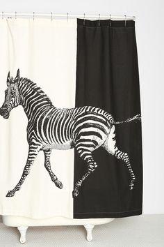 La Rococco Zebra Shower Curtain #urbanoutfitters www.sebraskinn.no