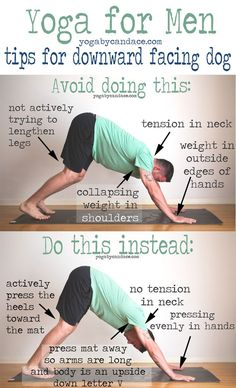 Pin it! Yoga for Men: Downward dog tips Wearing: Yoga crow shorts, BDG shirt. Using: Gaiam sol dry-grip yoga mat