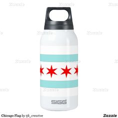 Chicago Flag Thermos Water Bottle