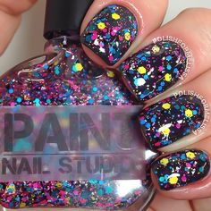 $2 Paint Nail Studio - Vida, swatched (glitter topper)