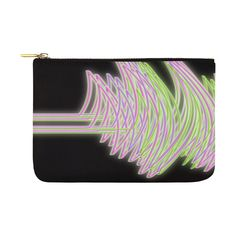 Abstract Waves Carry-All Pouch Abstract Waves, Zip Around Wallet, Pouch, Design, Sachets, Porches, Design Comics, Belly Pouch