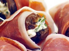 Food Network invites you to try this Cheese-Stuffed Dates with Prosciutto recipe from Giada De Laurentiis.