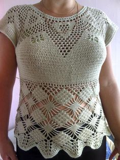 Crochet Dress Crochet Top Crochet Tunic Crochet Summer Top Eco FriendlyTop  FREE SHIPPING
