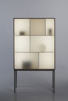 Displayaway - cabinet w/ led lighting by Norwegian designer Stine Knudsen Aas. Nice how the objects appear to be ghostly.