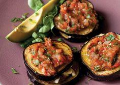 Eggplant Stacks with Tomato-Chipotle Salsa   Vegetarian Times