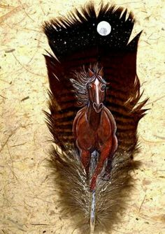 .Painted feather