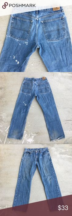 "Tommy Hilfiger Jeans Sz 32 Tommy Hilfiger Jeans ""Custom Made Tommy's for You""  Waist 32  Length 29 100% Cotton  Design Destroyed Dirty Denim  #tommy #tommyhilfiger #tommyjeans #denim #denimtommys #posh Tommy Hilfiger Jeans"