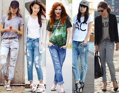 STYLE EQUATION: TEE + BOYFRIEND JEANS   Find out how you can style these two closet staples for an ultra trendy outfit!