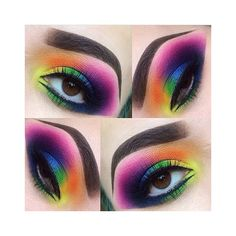 Rainbow Eye Shadow For Spring Best Eyes Makeup Tips ❤ liked on Polyvore featuring beauty products, makeup, eye makeup and eyeshadow