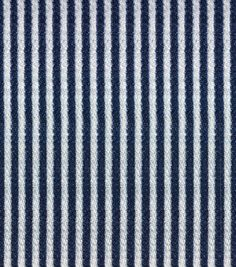 Cape May Cotton, Rayon, Polyester & Spandex Fabric 51''-Railroad Stripes