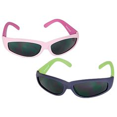 We've had a pair of these for the past 6 summers, and they are the absolute best!   Especially because they actually block UVAB rays, as opposed to many store brands, and the frame is so flexible, there is no whining!    Sun Smarties Rubber Frame Sunglasses   Kids love these sunglasses because they're comfortable and pliable; you'll love them because they block 100% of UV rays!