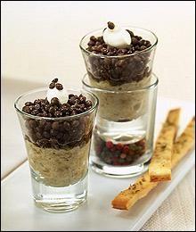 Tapa de caviar de berenjena y beluga  from El Bulli- Ferran Adrian