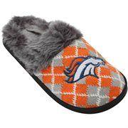 Denver Broncos Women's Argyle Fur Slide