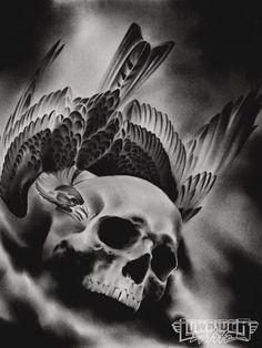 raven  masonic images | Lowrider Arte | Skulls & Skeletons, etc. | Pinterest | Lowrider ...