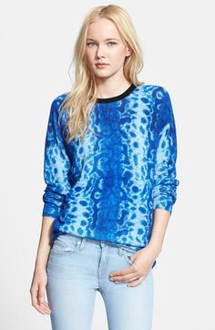 Free shipping and returns on Equipment 'Sloane' Cashmere Sweater at Nordstrom.com. Shades of brilliant, watery blue embolden a sumptuously soft cashmere sweater contrasted by a pure black crewneck.
