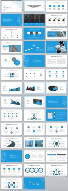 41+ Blue annual report Slide PowerPoint templates on Behance