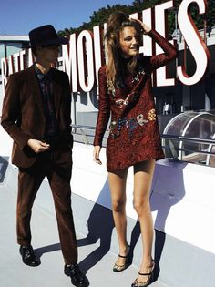 Robert Laby, Laura Kampman by Paul Bellaart for Glamour Spain December 2015