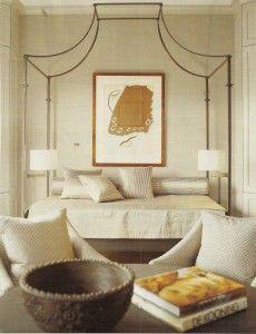 """How to Create a Dramatic Neutral Interior"" at Saffronia's blog. Nancy Braithewaite bedroom"