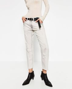ZARA - WOMAN - RELAXED FIT LOW-RISE JEANS