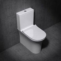 Stand-WC Keramik-Toilette weiß Aachen304T inkl. Spülkasten Spülrandlos Toilette