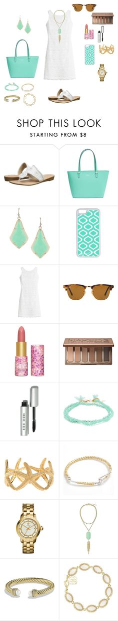 """What I want to wear to church Sunday"" by oliviacat1215 ❤ liked on Polyvore featuring Jack Rogers, Kate Spade, Kendra Scott, CellPowerCases, White House Black Market, Ray-Ban, tarte, Urban Decay, Bobbi Brown Cosmetics and Shashi"