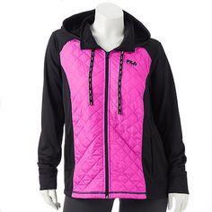 866fbace016ff Plus Size FILA SPORT¨ Run Swift Quilted Fleece-Lined Hooded Jacket