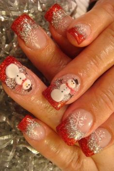 Snowman Nail Designs Gallery snowman christmas nail art designs nail designs for you Snowman Nail Designs. Here is Snowman Nail Designs Gallery for you. Snowman Nail Designs snowman christmas nail art designs nail designs for you. Christmas Nail Art Designs, Holiday Nail Art, Winter Nail Art, Winter Nails, Christmas Design, Summer Nails, Fancy Nails, Cute Nails, Pretty Nails