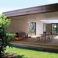Extension to a 1950's house by Anne Menke and Winkens Architekten.