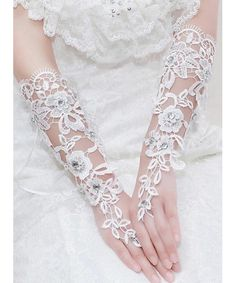 Brauthandschuhe  Lace bridal gloves
