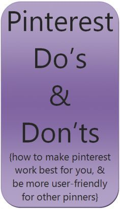 Pinning do's and don'ts. wish I'd seen something like this BEFORE I pinned pins. Am working steadily to edit. I find the editing almost as fun as the pinning. Like to research many of the pins ~ & play around with the Covers of the board Vídeos Youtube, Pinterest For Business, Apps, Pinterest Marketing, Things To Know, Social Media Tips, Being Used, Good To Know, Business Tips
