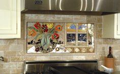 "Kitchen Backsplash from ""Custom Mosaic Tile"""