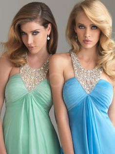 A-line Empire Waist Floor Length Organza Homecoming Dress