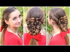How to Create a Banded Puff Braid  #hairstyles #CuteGirlsHairstyles #CuteGirlHair #Braid #Braids #Mockingjay