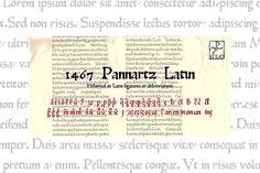1467 Pannartz Latin OTF by GLC Foundry on @creativemarket