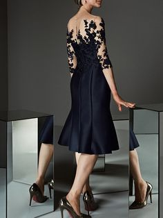 Women's Asymmetrical Daily Prom Lace Up Elegant Sleeveless A Line Sheath Dress - Floral Lace Ruffle Lace Ruffle, Lace Dress, Plus Size Black Dresses, Mother Of Bride Outfits, Romantic Lace, Groom Dress, Mi Long, European Fashion, Elegant Dresses