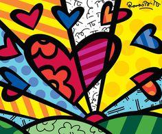 Romero Britto. My favorite artist ever.