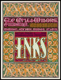 Ault & Wiborg ran a series of strong, graphic ads in The Inland Printer and other printing trade publications troughout the Art Nouveau era.