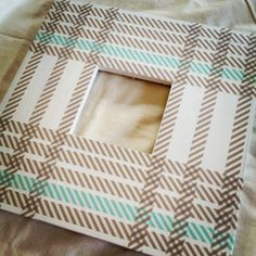 DIY washi tape frame #wermemorykeepers #washitape
