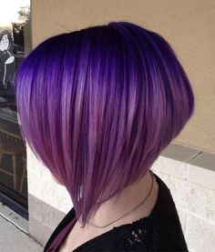 Layered Purple Ombre Bob