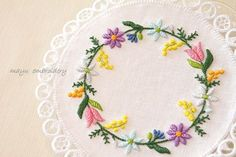 Spring flower doily ☆ Original picture sketch Ⅰ の画像|Nui nui 生活 in TOKYO