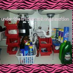 Dollar tree project Under Sink Organization, Under Sink Storage, Life Organization, Home Projects, Home Crafts, Diy Crafts, Dollar Tree Finds, Garage, Konmari Method