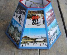 Bromley Lamp Shade Lampshade Skiing Vintage by lampshadelady