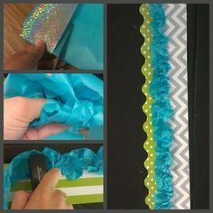 Use ribbon as a bulletin board border.