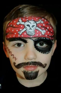 Make-up tips Carnival: 40 ideas for face painting - pirate makeup tips carnival children - Pirate Costume Kids, Pirate Kids, Pirate Halloween, Halloween Masks, Halloween Makeup, Bodysuit Tattoos, Face Painting Designs, Body Painting, Painting Tips