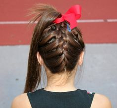wearing my hair like this for cheerleading!
