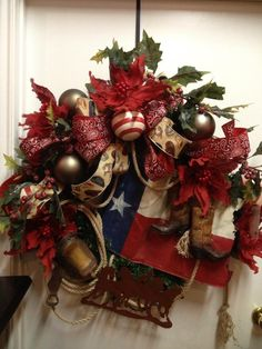 Miss Cayce's Christmas Store - Midland, TX  ...... **Texas style wreath**