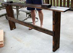 Hometalk :: Simple DIY Sofa Table Tutorial