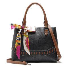 6420e0cf02 Women Stone Grain Fashion Scarf Bag Large Capacity Handbag. Crossbody BagsLeather  Crossbody BagTote ...