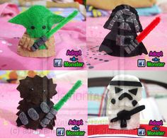 Finger Puppets - like the light sabers